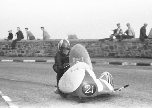 Stan Nightingale & E Sheldon (Norton) 1959 Sidecar TT