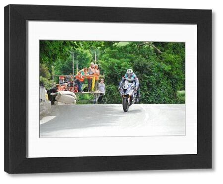 Michael Dunlop (BMW) on Ballaugh Bridge: 2018 Senior TT