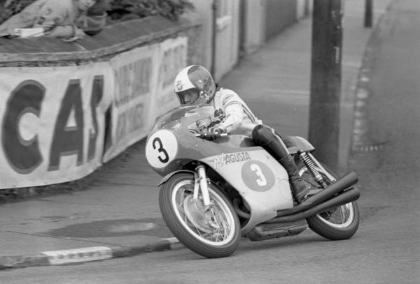 Parliament Square, Ramsey. Giacomo Agostini's 10th and final win came in the 1972 Senior. 16 TTs, ten victories, two runner up rides, a third and three retirements