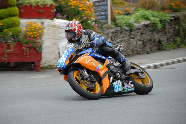 Alistair Howarth (Suzuki) at Ballacraine: 2009 Junior Manx Grand Prix