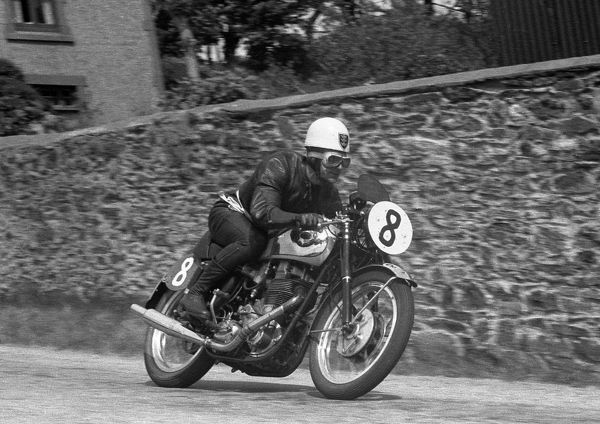 Bernard Codd strokes his BSA Gold Star through Cronk ny Mona, to complete a Clubman double at the last running of the Clubman TT on the Isle of Man