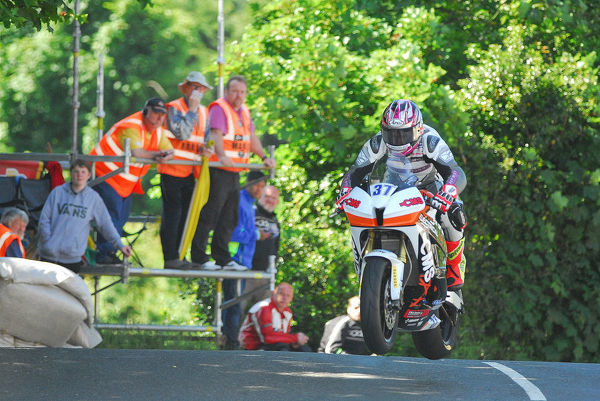 Dan Cooper (Honda) on Ballaugh Bridge: 2018 Supersport TT