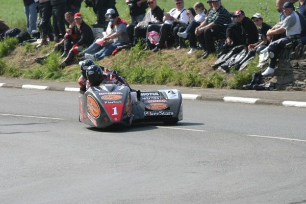 Dave Molyneux just keeps on winning! 2007 saw him notch up another TT double victory. With Rick Long as pasenger, Dave added wins No. 12 & 13 to his tally