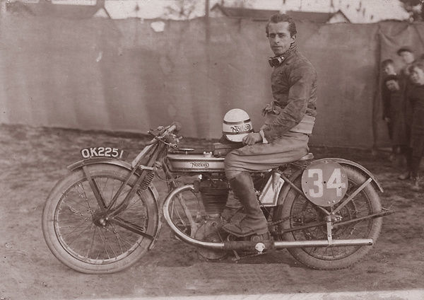 After many years racing side-valve racers, Norton's first overhead valve TT machine did not bring instant success. Ralph Cawthorne fell off at Hillberry on the last lap