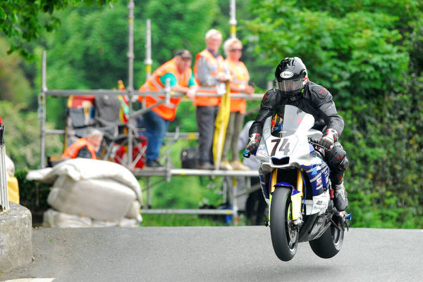 George Spence (Yamaha) on Ballaugh Bridge: 2018 Senior TT