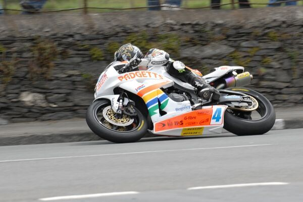 Douglas Road Corner, Kirk Michael action as Ian Hutchinson gives Padgetts their second win of the week. Only three more to go
