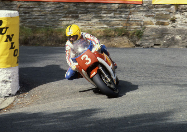 Signed by Honda in 1981, Joey Dunlop endured two lean TT years before winning the 1983 Formula One TT. With victory in the Ulster Grand Prix, Joey was crowned the winner of the inaugral F1 World crown