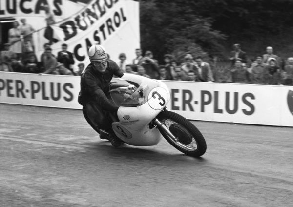 Mike Hailwood takes his Norton to his third TT win of TT 1961