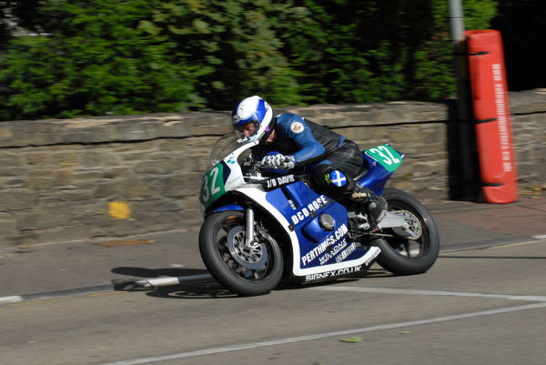 Rab Davie (Honda) on Quarter Bridge Road: 2009 Ultra Lightweight Manx Grand Prix
