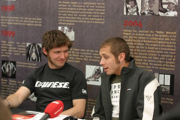 Two Racing Legends: Guy Martin & Valentino Rossi; I would love to have heard that conversation