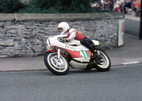 Ronnie Mann (Fleming Yamaha) at Ramsey: 1973 Lightweight Manx Grand Prix