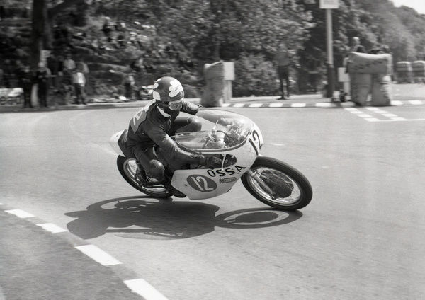 Enthusiastically ridden by Santiago Herrero, the Ossa single cylinder two-stroke challenged the multi-cylinder might of Japan. In 1969 he finished third in the Lightweight TT and also the World Championship