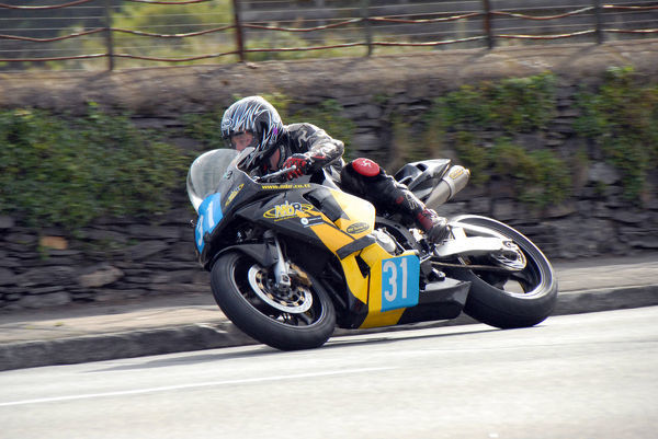 Tony Oates (Honda) at Kirk Michael: 2009 Junior Manx Grand Prix