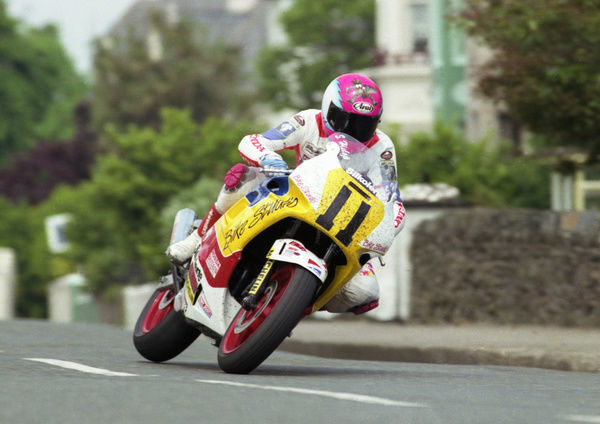 Steve Hislop heads for his second hat-trick of TT wins
