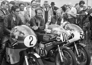 1973 Senior Manx Grand Prix winners enclosure