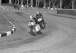Bruno Spaggiari and Mike Hailwood (Ducati) 1959 Ultra Lightweight TT
