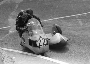 Cyril Smith & Eric Bliss (Norton) 1957 Sidecar TT