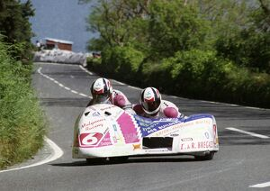 Dave Molyneux and Karl Ellison in the 1993 Sidecar TT