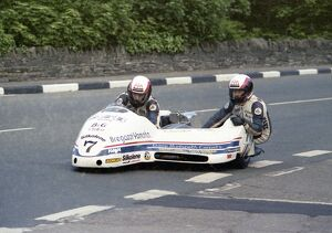 Dave Molyneux's first TT win 1989 Sidecar race A