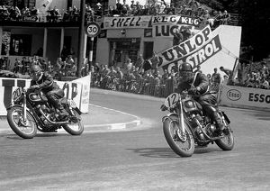 David Andrews and Neville Wooderson (Matchless) 1953 Senior Clubman TT