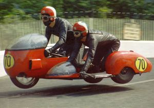 eddie lloyd t j harrington bsa 1971 750 sidecar