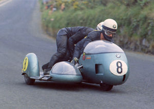 George Auerbacher & Hermann Hahn (BMW) 1970 Sidecar 750 TT