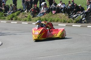 Glyn Jones & Christopher Lake (Honda) 2007 Sidecar TT