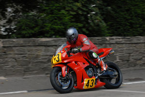 Iain Hill (Honda) 2009 Senior Manx Grand Prix