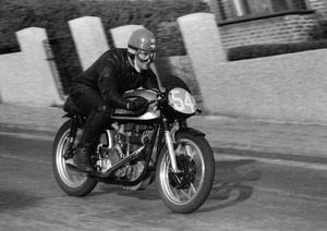 Ian Yeates (Norton) 1957 Junior TT