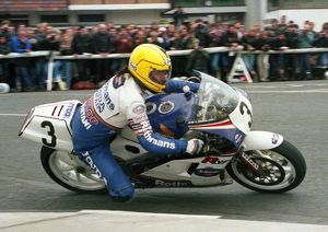 Joey Dunlop at Parliament Square: 1986 Formula One TT