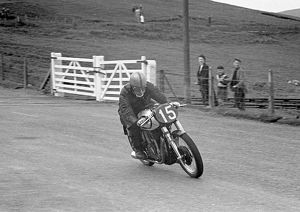 John Surtees; practice for 1953 TT