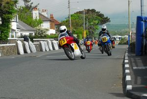 Mark Herbertson (Matchless G50) leads David Lissaman (N.R.E. See