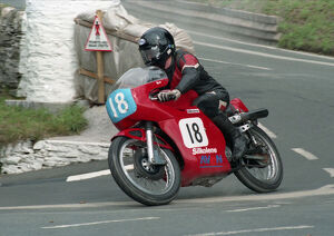 Mervyn Elwood (Seeley 7R) 1996 Junior Classic Manx Grand Prix
