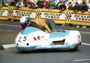 Michael Staiano & Peter Willis (Windle Yamaha) 1989 Sidecar TT