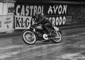 Norman Webb (Guzzi) 1956 Lightweight TT