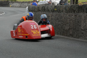 Paul Lumley and P J McLaverty (Lumley Honda) 2009 Southern 100