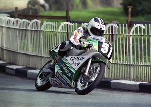 Robert Dunlop at Braddan Bridge: 1990 Ultra Lightweight TT