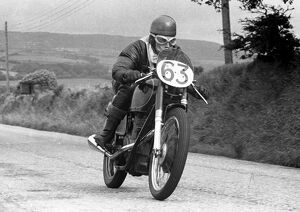 Ronald Butler (AJS) 1954 Junior Manx Grand Prix