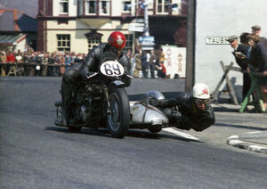 Ron Glover and D G Forshaw (Norton) 1967 Sidecar TT