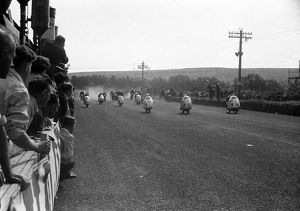 Start of the 1955 Lightweight Ulster Grand Prix