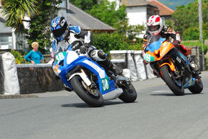 Stephen McKnight (Suzuki) and Sam Dunlop (Kawasaki) 2012 Souther